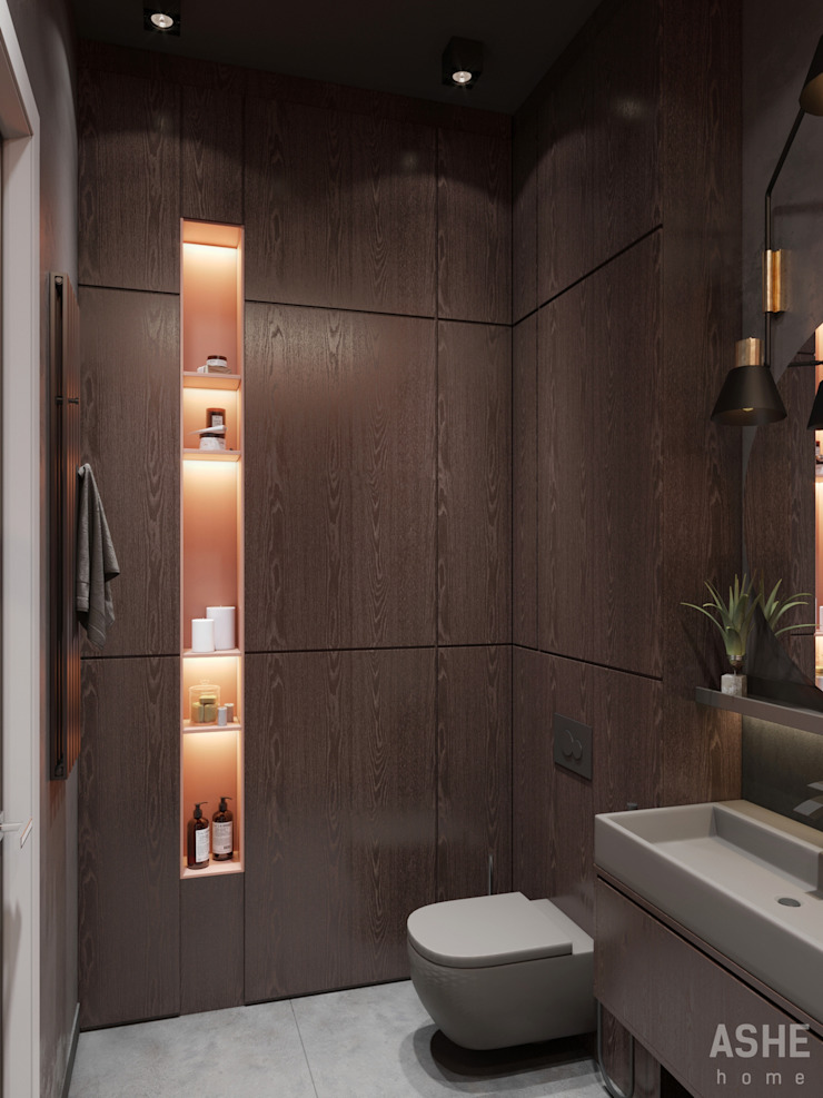 Eclectic style bathroom by Студия авторского дизайна ASHE Home Eclectic