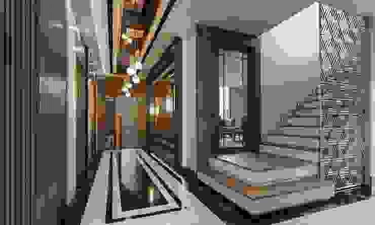Baştan Villası Modern Koridor, Hol & Merdivenler VERO CONCEPT MİMARLIK Modern