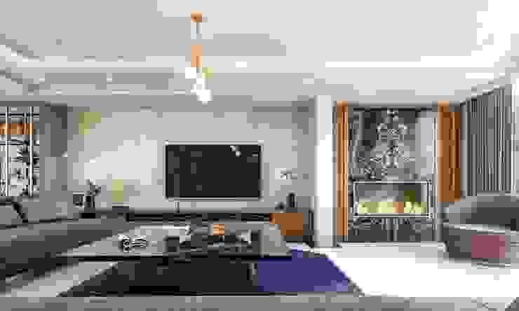 Baştan Villası Modern Oturma Odası VERO CONCEPT MİMARLIK Modern