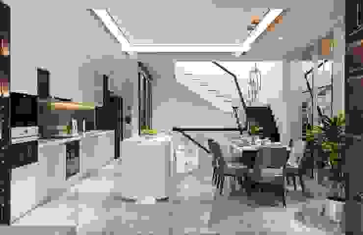 Nội thất đẳng cấp từ ICON INTERIOR: Vẻ đẹp lay động trong thiết kế Nhà bếp phong cách kinh điển bởi ICON INTERIOR Kinh điển