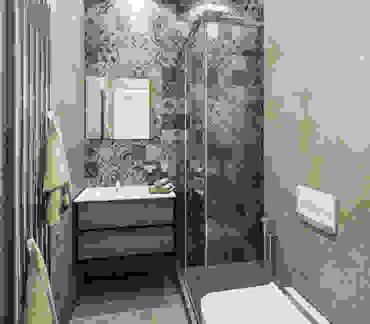 """Проект квартиры """"Копенгаген"""" Ванная комната в эклектичном стиле от Технологии дизайна Эклектичный"""