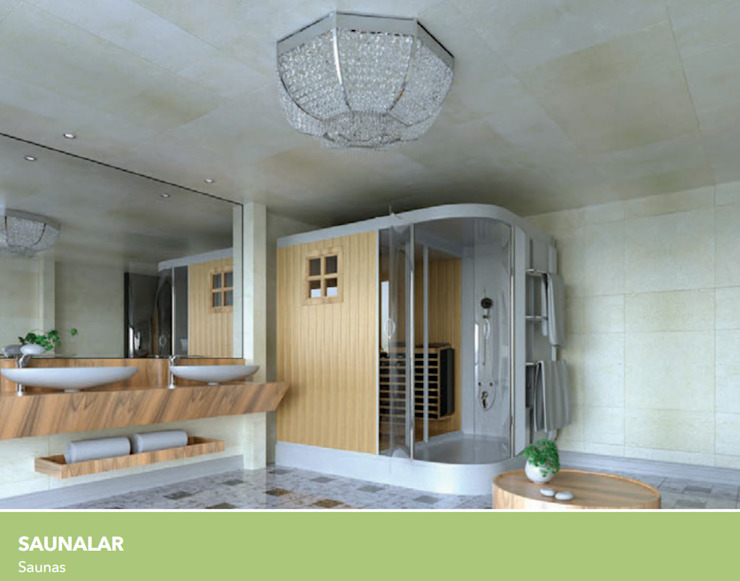 SAUNALAR Çalık Konsept Mimarlık BanyoKüvet & Duşlar Ahşap Ahşap rengi