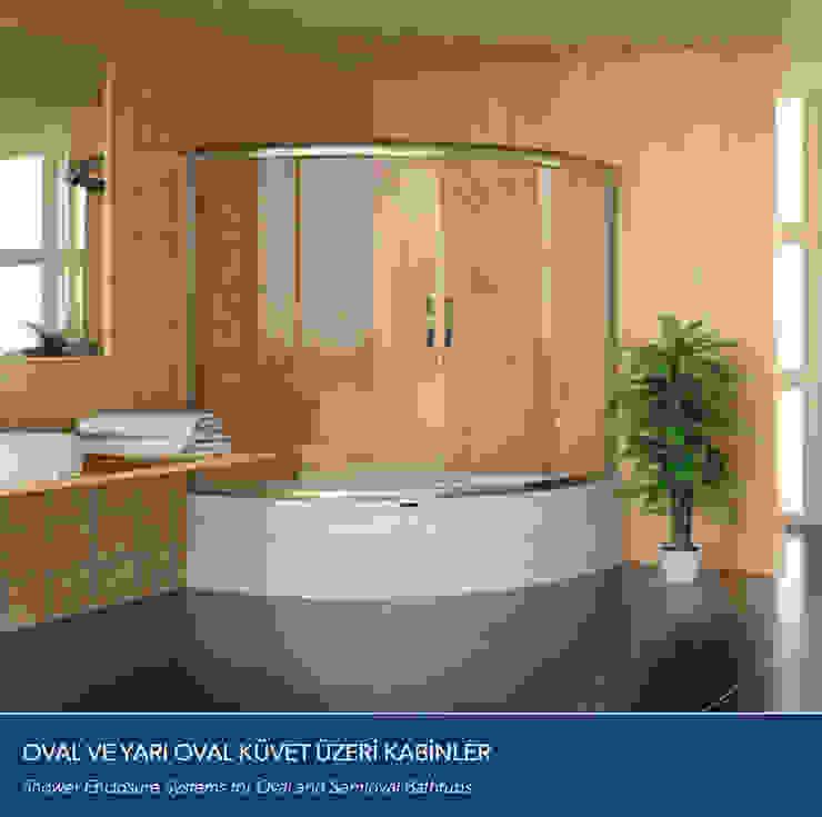 OVAL ve YARI OVAL KÜVET ÜZERİ KABİNLER Çalık Konsept Mimarlık BanyoKüvet & Duşlar Cam Şeffaf