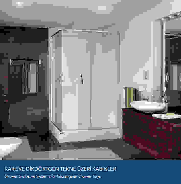 KARE VE DİKDÖRTGEN DUŞ TEKNE ÜZERİ KABİNLER Çalık Konsept Mimarlık BanyoKüvet & Duşlar Cam Şeffaf