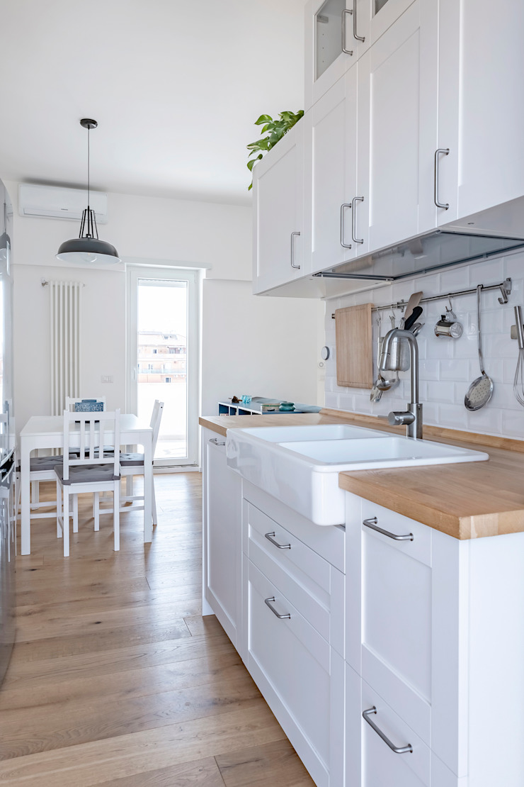 Partition House Cucina moderna di Caleidoscopio Architettura & Design Moderno