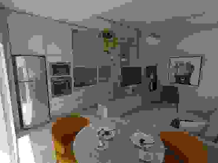 Cozinha e Living integrado Salas de estar escandinavas por Plurale Arquitetura Escandinavo