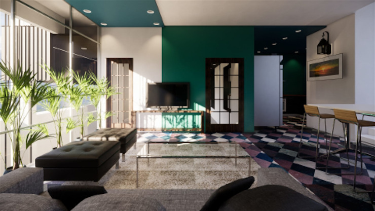Living Room Modern living room by MAP Architects Modern