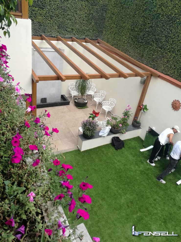FENSELL Garden Greenhouses & pavilions Plastic Brown