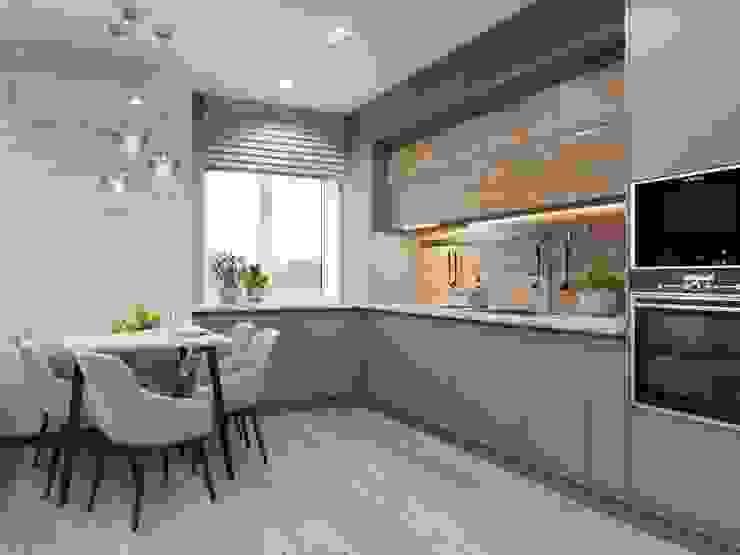 Кухня таун хаус Кухни в эклектичном стиле от Марина Шляхова Эклектичный
