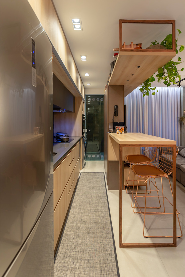 Cocinas de estilo industrial de Cassiana Rubin Arquitetura Industrial