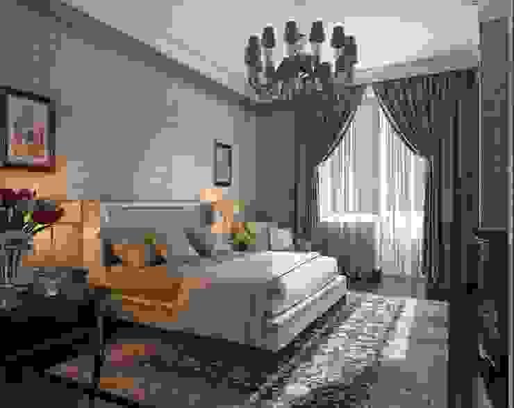 Спальня хозяев Технологии дизайна Спальня в эклектичном стиле Коричневый