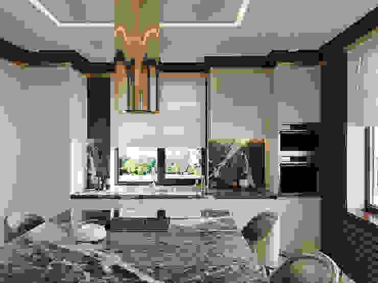 Кухня-гостиная в загородном доме от Kris-Tina-Gera Классический