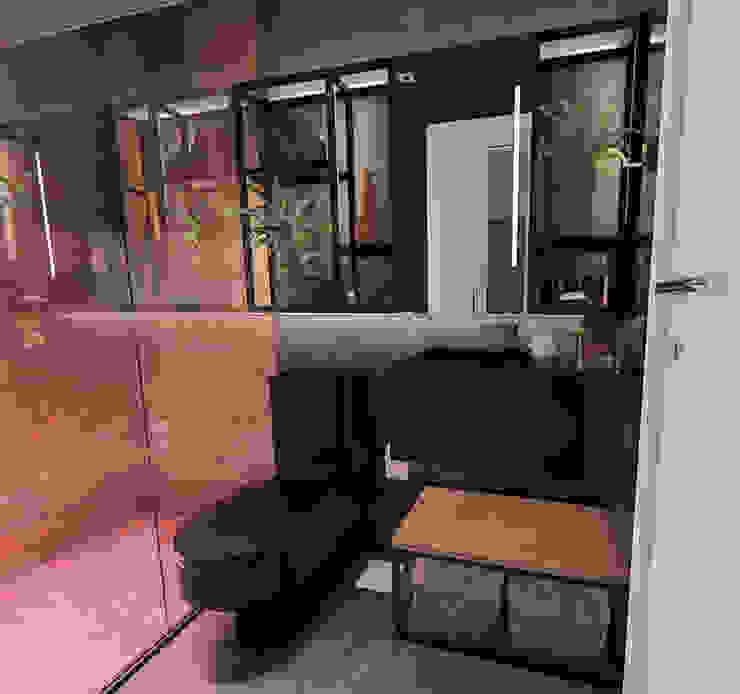 IEZ Design Industrial style bathroom Ceramic Black