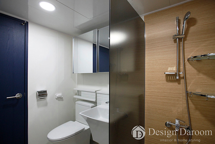 우장산 롯데캐슬 45py 거실 욕실 모던스타일 욕실 by Design Daroom 디자인다룸 모던
