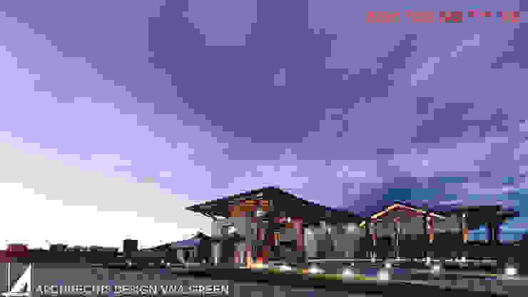 NHÀ HÀNG 1 TẦNG - 750M2 bởi Kiến trúc Việt Xanh