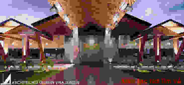 NHÀ HÀNG 1 TẦNG – 750M2 bởi Kiến trúc Việt Xanh