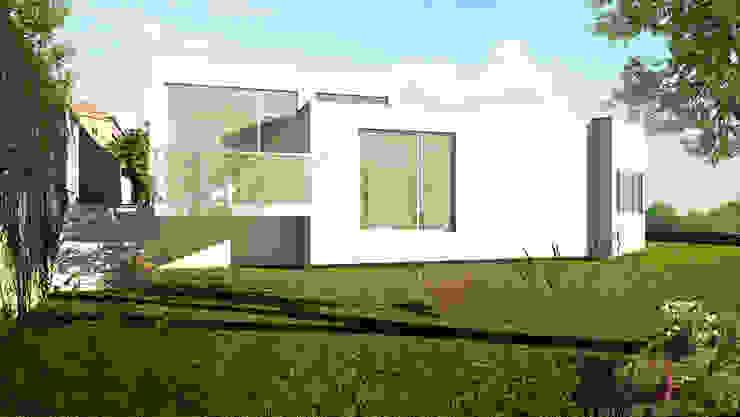 Vista poente, com a varada do quarto secundário em destaque por José Melo Ferreira, Arquitecto Moderno