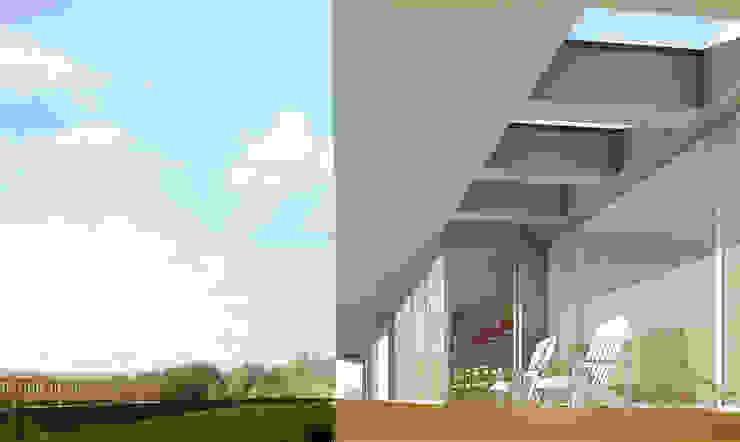 vista do deck Varandas, marquises e terraços modernos por José Melo Ferreira, Arquitecto Moderno