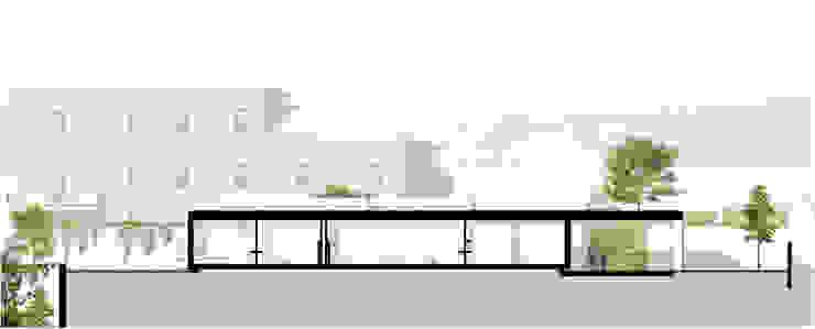 Corte longitudinal da casa por José Melo Ferreira, Arquitecto Moderno