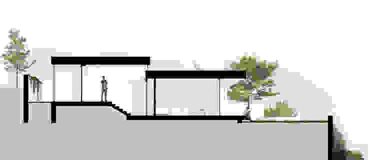 Corte transversal da casa por José Melo Ferreira, Arquitecto Moderno