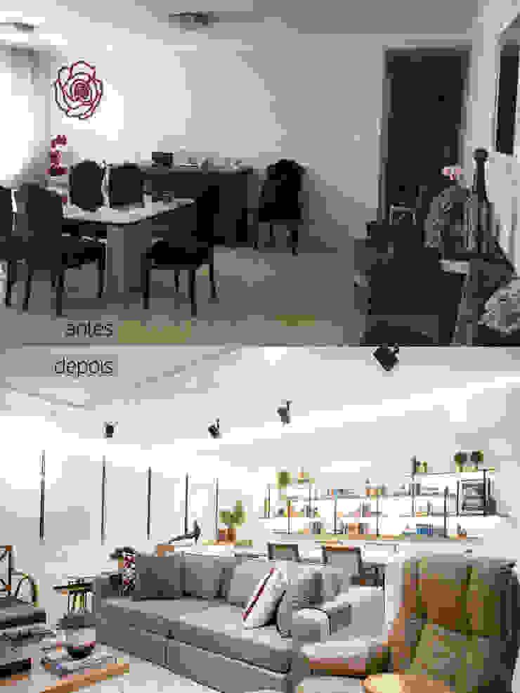 Sala de estar totalmente renovada por C2HA Arquitetos Moderno