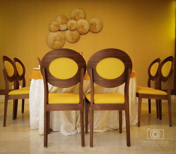 SALON DE BODA Y EVENTOS de Tu Hotel Contract Moderno Textil Ámbar/Dorado