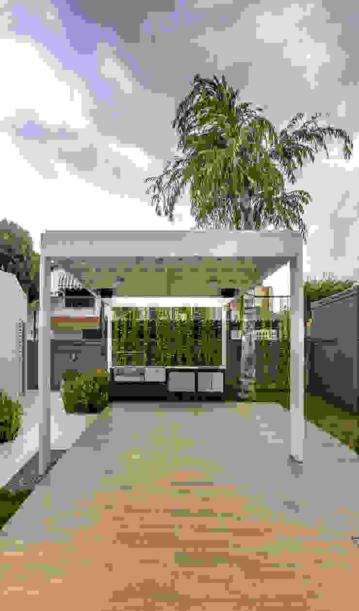 PARRILLERA Balcones y terrazas de estilo moderno de Design Group Latinamerica Moderno