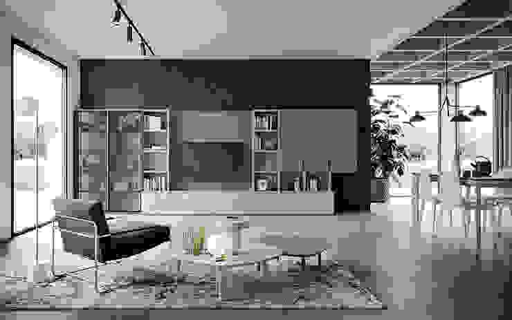 il design è di casa Soggiorno moderno di Mobili a Colori Moderno Legno massello Variopinto