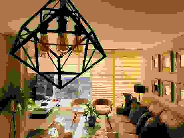 Vista general living Livings de estilo moderno de Oscar Saavedra Diseño y Decoración Spa Moderno