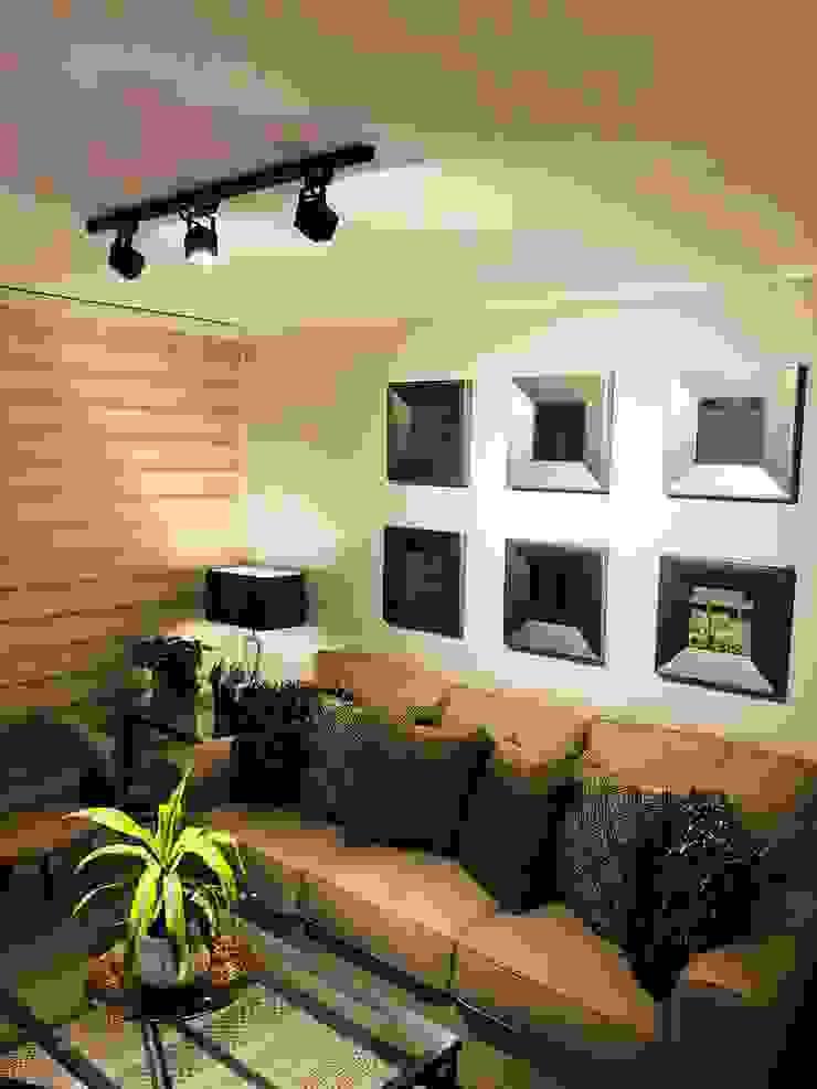 Iluminación con rieles y foco móviles Livings de estilo moderno de Oscar Saavedra Diseño y Decoración Spa Moderno
