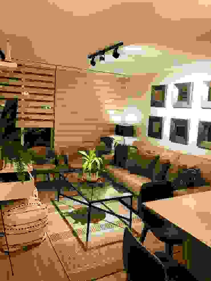 Vista general living con iluminacion Livings de estilo moderno de Oscar Saavedra Diseño y Decoración Spa Moderno
