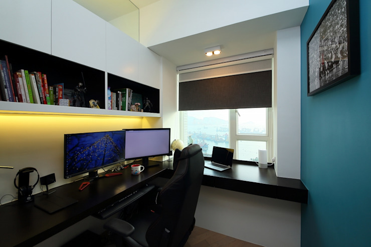 海桃灣書房 Modern study/office by Inspire Design Ltd Modern Wood Wood effect