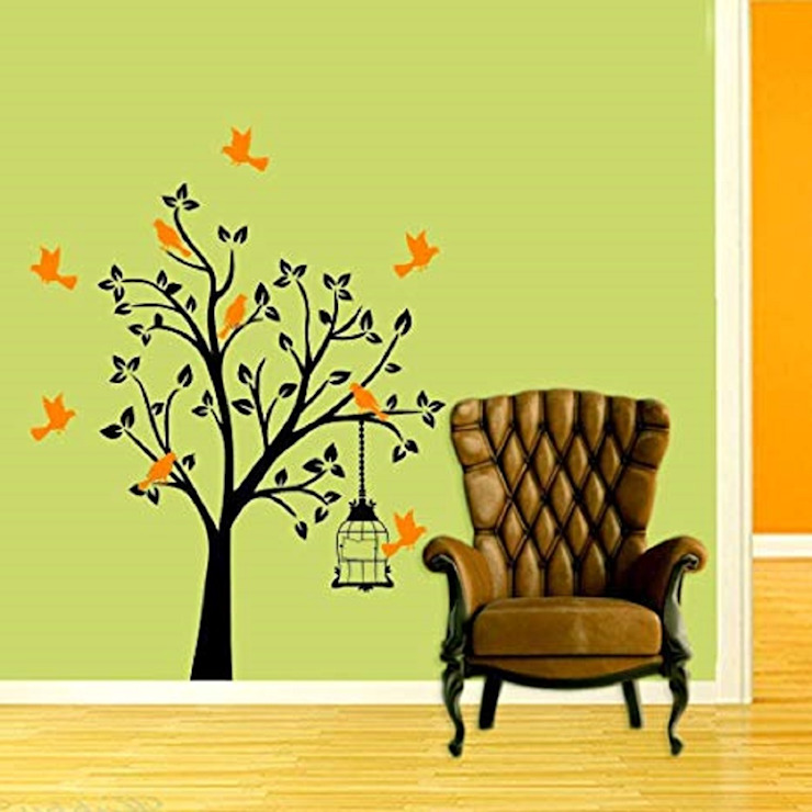 INNOVATIVE BIRD TREE WALL STICKER AND WALL DECAL: minimalist  by WallMantra,Minimalist
