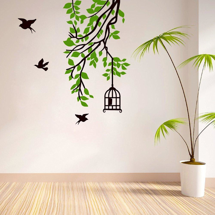 BRANCH WALL STICKER FOR LIVING ROOM, BEDROOM, OFFICE DECOR: minimalist  by WallMantra,Minimalist