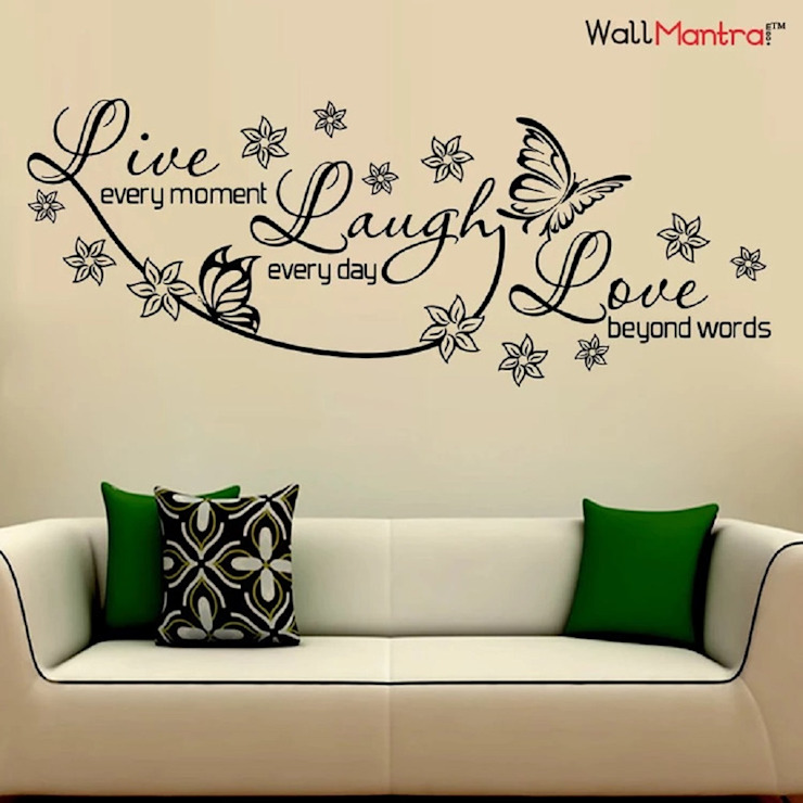 MOTIVATIONAL QUOTE WALL STICKER AND WALL DECAL FOR LIVING ROOM: minimalist  by WallMantra,Minimalist