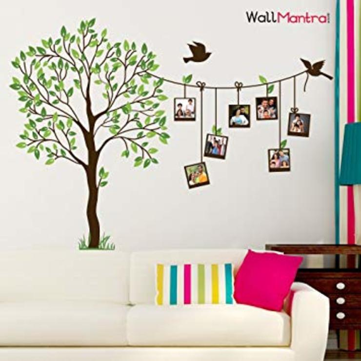 FAMILY PHOTO FRAME TREE WALL STICKER SELF ADHESIVE QUALITY VINYL: minimalist  by WallMantra,Minimalist