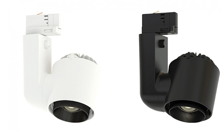 Foco LED de carril modelo JADE ZOOM con óptica variable. Iluminación interior. de OutSide Tech Light Moderno