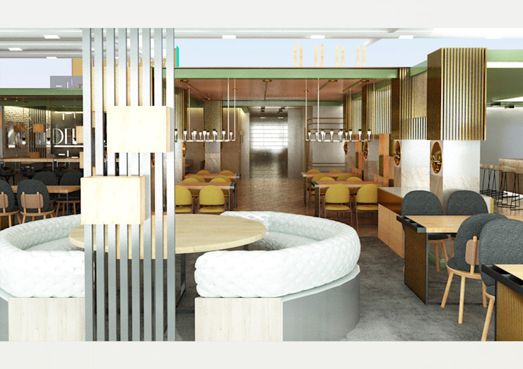 Mediterranean style dining room by Kut İç Mimarlık Mediterranean Aluminium/Zinc