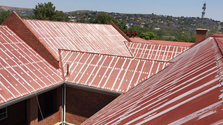 Complete Roof Waterproofing in progress by Roof Proof Restoration