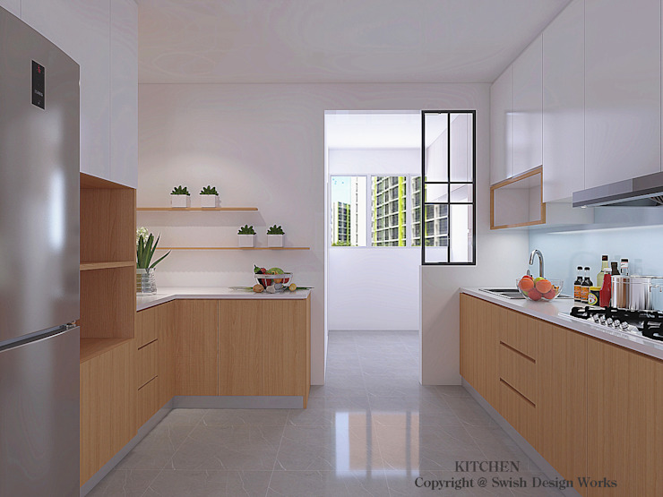 Kitchen option 2 by Swish Design Works Minimalist Plywood