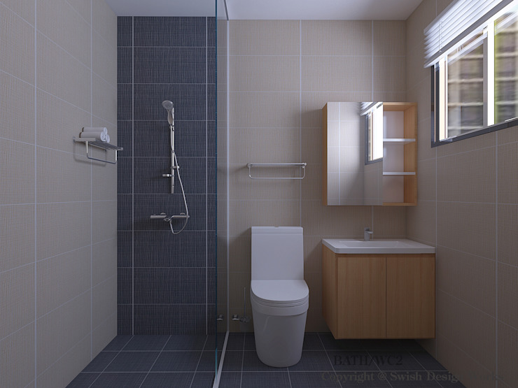 Bathroom Minimalist bathroom by Swish Design Works Minimalist Tiles