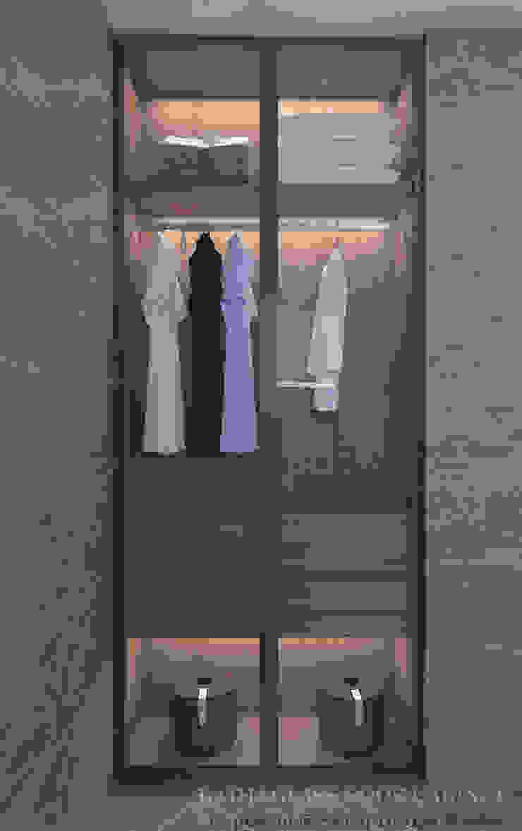 Glass cabinet in bathroom Modern bathroom by Swish Design Works Modern Glass