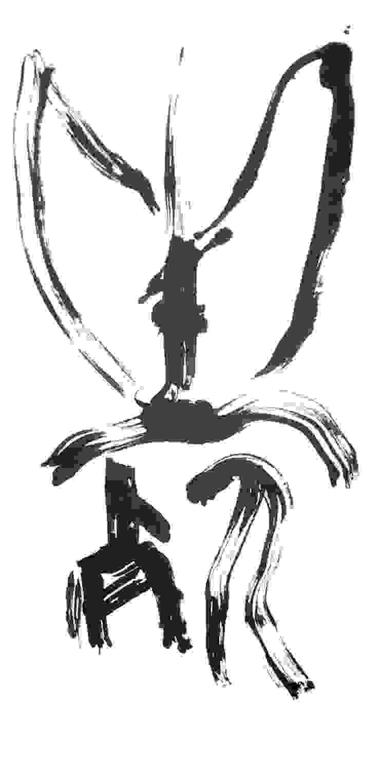 Tod und Leben - Kalligraphie auf Leinwand Christine Lehmann Malerei-Wandbilder-Asiatische Kalligraphie Kunst Bilder & Gemälde