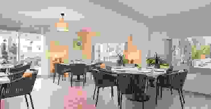 Reforma Hotel Cala San Vicente. Comedor Comedores de estilo escandinavo de FOCUS Arquitectura Escandinavo