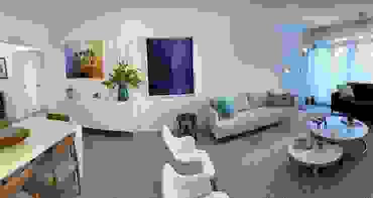 Sala de Estar com móveis modernos italianos Salas de estar modernas por NEUSA MORO Moderno