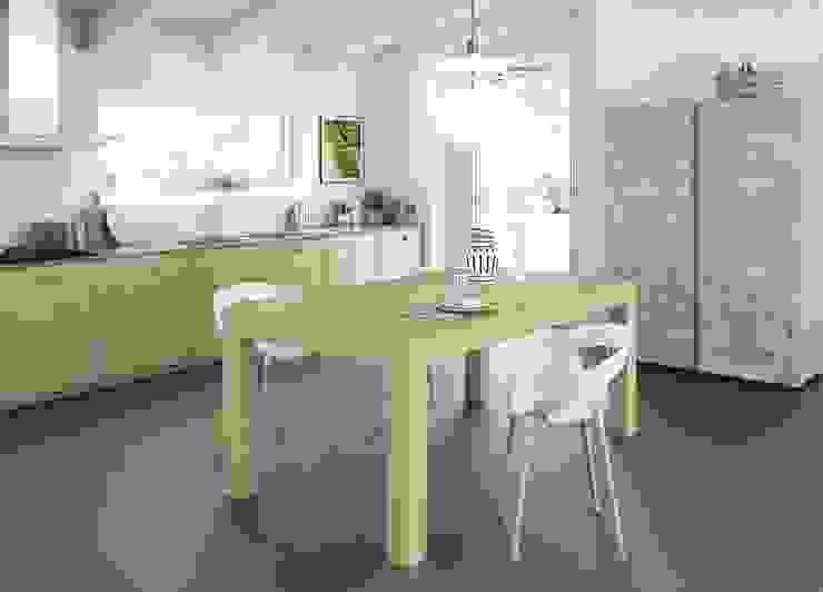 Tavolo in rovere allungabile Mobili a Colori Cucina attrezzata Legno massello Effetto legno