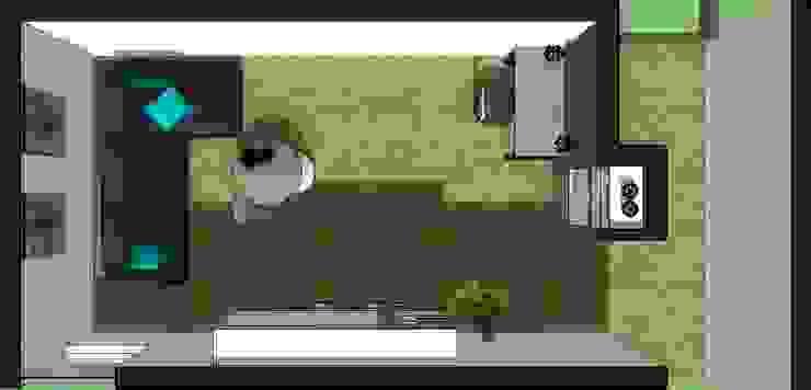 Planta Sala de Estar de Azohia Design - Diseño y Decoracion Maria Alejandra Bucher EIRL Moderno
