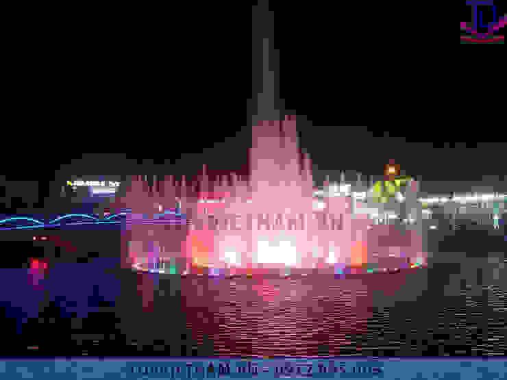 Đài phun nước thị xã Phổ Yên – Thái Nguyên bởi Công ty Đài phun nước TDV Việt Nam Hiện đại