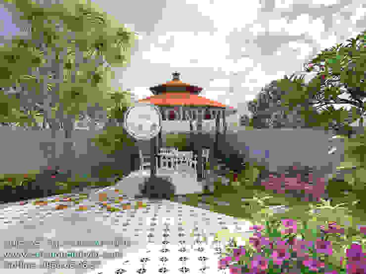 Thiết kế sân vườn chòi nghỉ dưỡng bởi Sân Vườn Đỉnh Việt