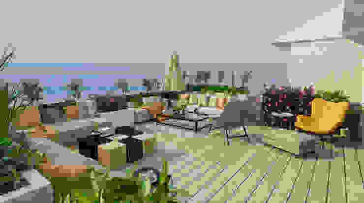 BURHANIYE YAZLIK VILLA Modern Balkon, Veranda & Teras ARTERA İÇ MİMARLIK VE MİMARLIK Modern